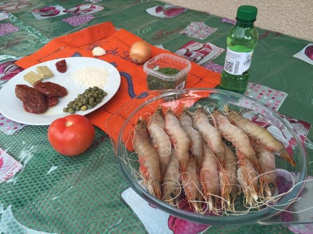 Ingrédients risotto aux crevettes